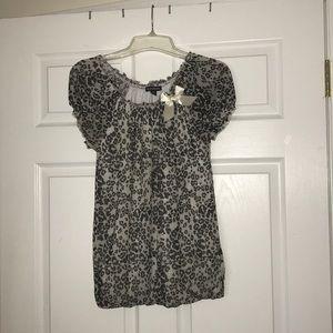 Silver cheetah blouse